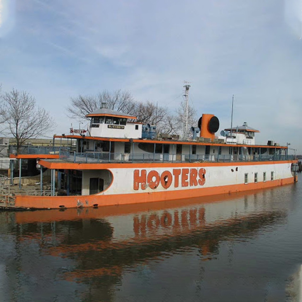The SS United States Vs The Hooters Boat