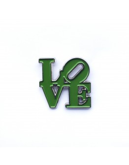 Love is Dead (Green) Pin